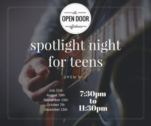 spotlight night for teens