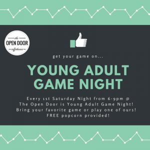 Young Adult Game Night @ The Open Door Coffeehouse